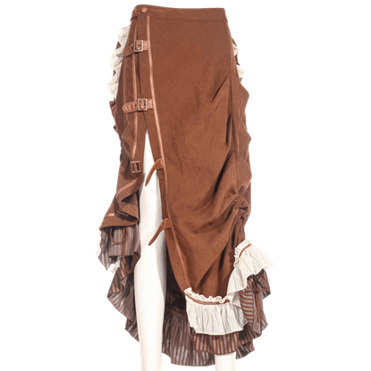 Steampunk Ruffled Bustle Skirt
