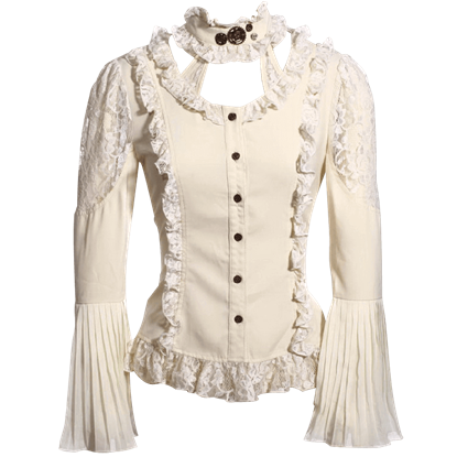 Steampunk Choker Neck Blouse