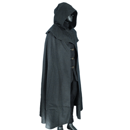 Wool Cloak with Mantle
