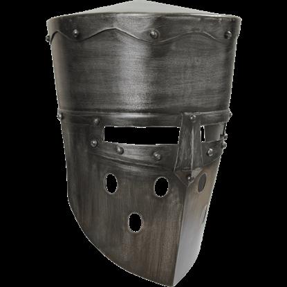 Crusader Helmet - Dark Metal Finish