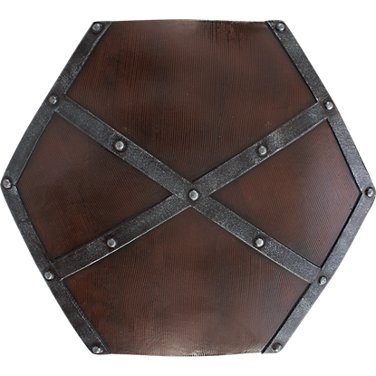 Raider LARP Woodgrain Shield
