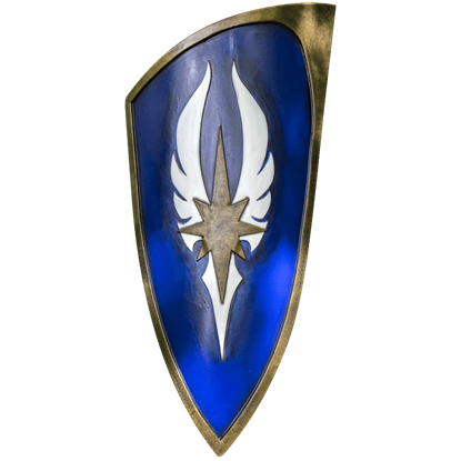 Blue LARP Elven Shield