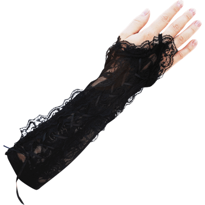 Laced Up Gothic Glovettes