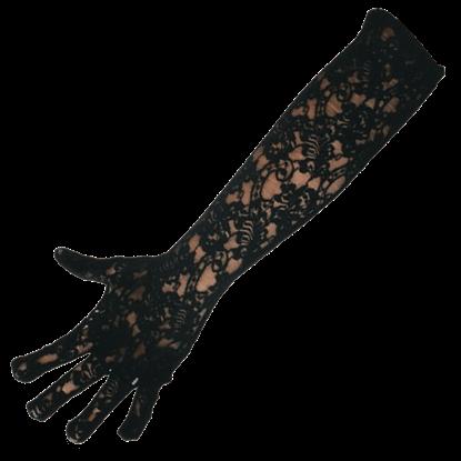 Long Black Lace Gloves