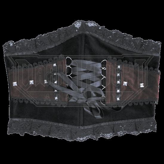Studded Gothic Waspie Waist Cincher