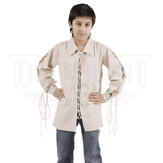 Boys Lace-Up Medieval Shirt