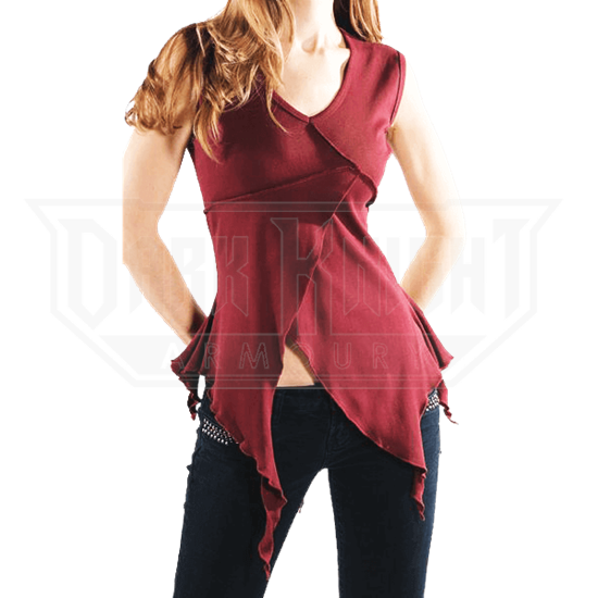 Sleeveless Jagged Blouse