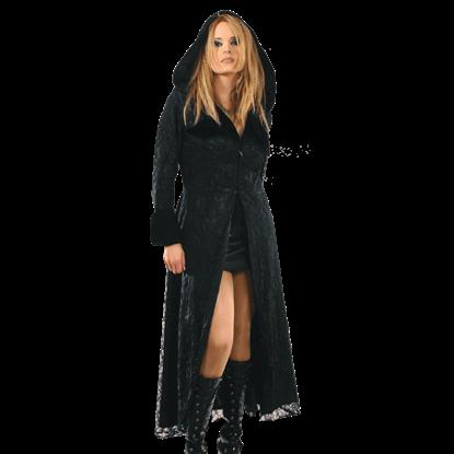 Womens Long Hooded Gothic Coat