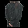 Mens Ruffled Shoulder Shirt