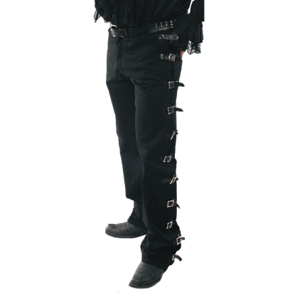 Side-Belted Gothic Trousers