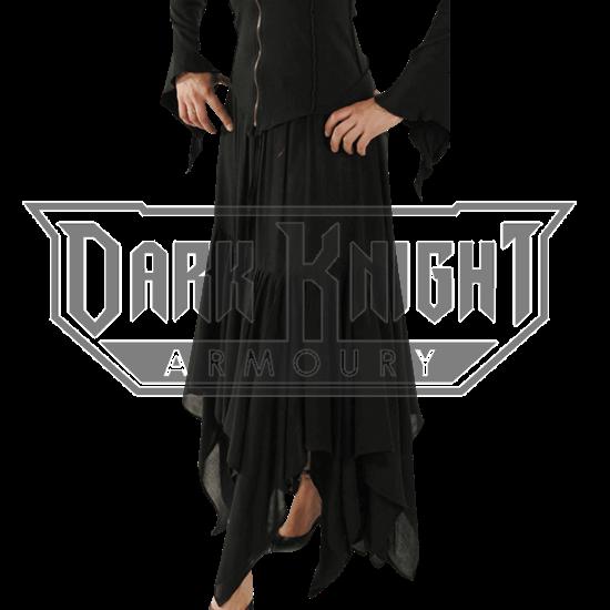 Jagged Hem Gothic Skirt