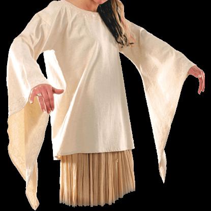 Long Length Bell Sleeved Shirt