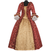 Red and Gold Baroque Renaissance Gown