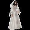 White Medieval Maiden Hooded Dress