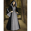 Black Medieval Maiden Hooded Dress
