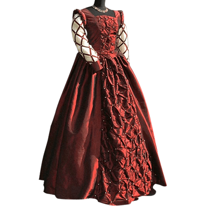 Burgundy Medieval Ball Gown