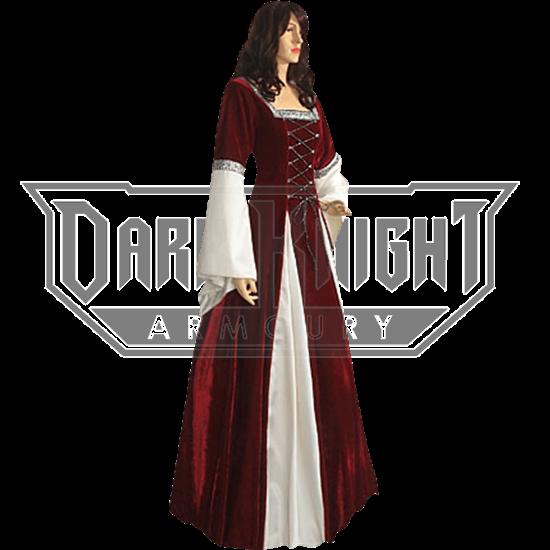 Burgundy Fair Maidens Gown