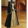 Courtly Renaissance Dress - Black and Gold