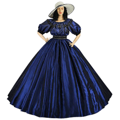 Dark Blue Civil War Dress