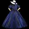 Dark Blue Civil War Dress
