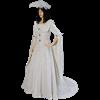 Feathered Renaissance Dress