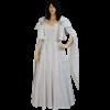 Crushed Velvet Renaissance Dress - White