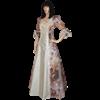 Spring Flower Renaissance Gown