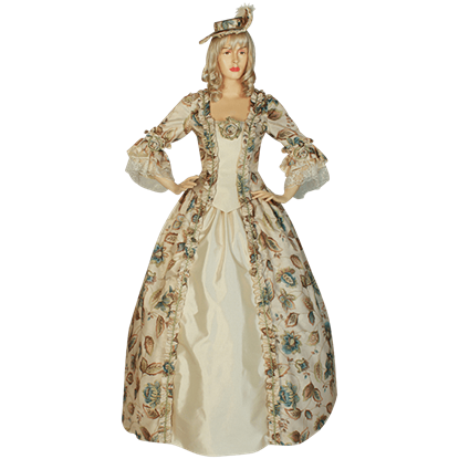 Antique Flower Renaissance Dress