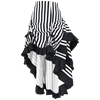 Layered Black and White Striped Steampunk Skirt