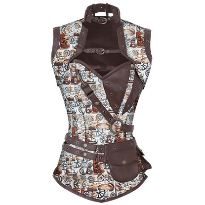 Airship Mistress Corset with Jacket and Belt