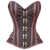Brown Brocade Sweetheart Overbust Corset