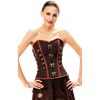 Steampunk Overbust Corset with Antique Metal Clasps