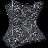 Silver Brocade Waist Reducing Underbust Corset