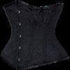 Black Brocade Waist Training Underbust Corset