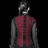 Gothic Red Brocade Shoulder Strap Overbust Corset
