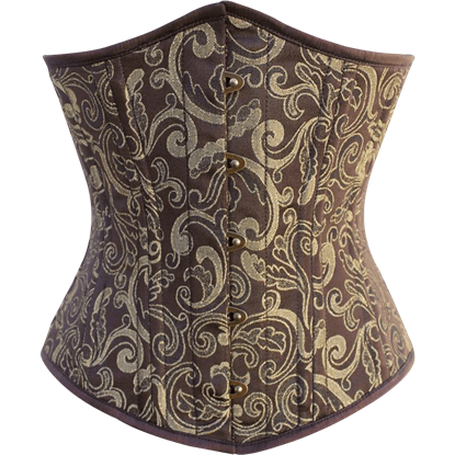 Brown and Gold Brocade Underbust Corset