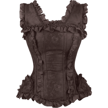 Burlesque Brocade Brown Overbust Corset