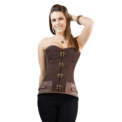 Lady's Locked Steampunk Overbust Corset