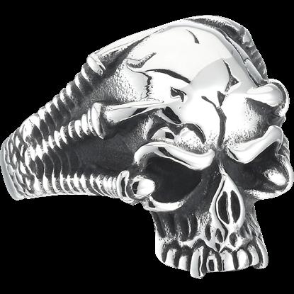 Talons Gripping Skull Ring