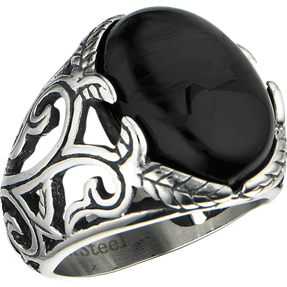 Black Onyx Vine Ring