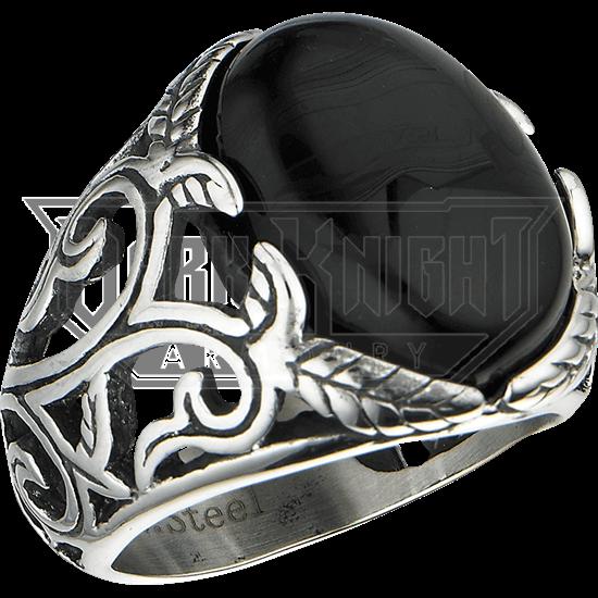 Black Onyx Vine Ring