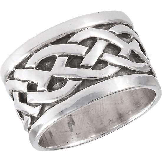 Sterling Silver Twining Celtic Band