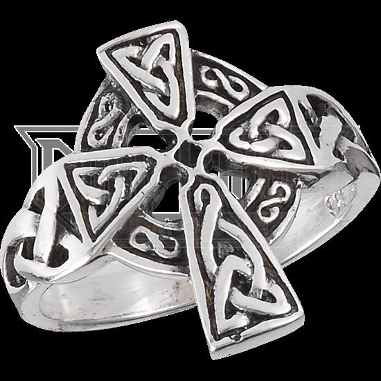 Sterling Silver Celtic Cross Ring