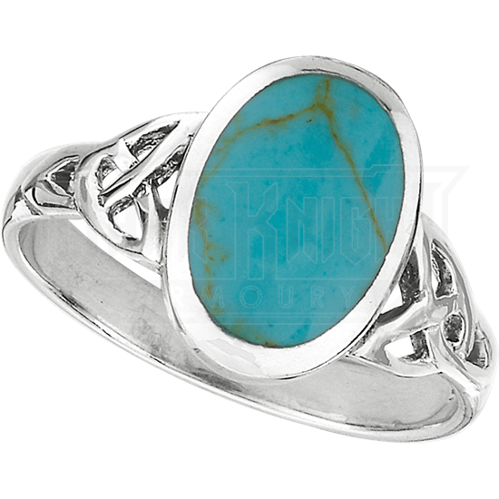 Turquoise Celtic Knot Ring