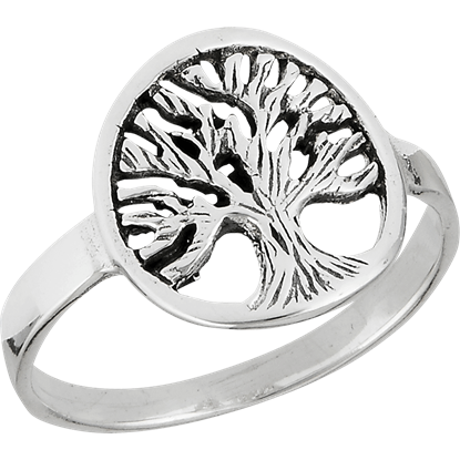 Sterling Silver Branching Tree Ring