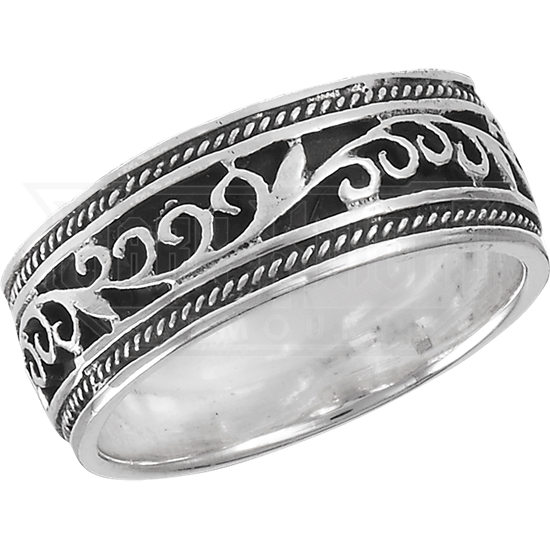 Sterling Silver Classic Vine Band