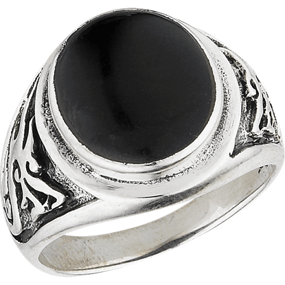 Onyx Oriental Dragon Ring
