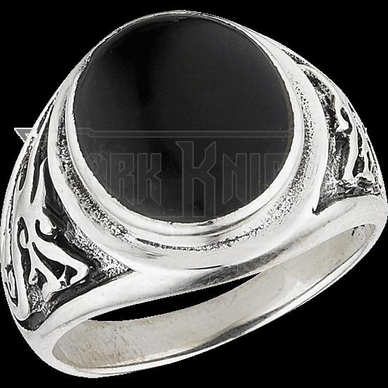 Onyx Oriental Dragon Ring