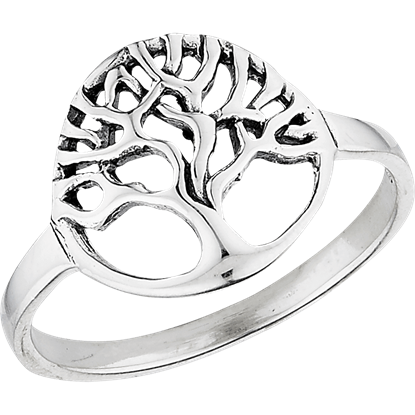 Sterling Silver Circle Tree Ring