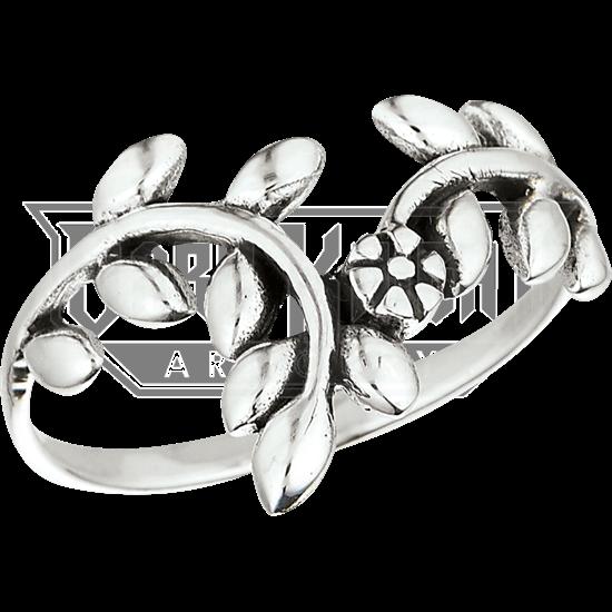 Sterling Silver Floral Vine Ring